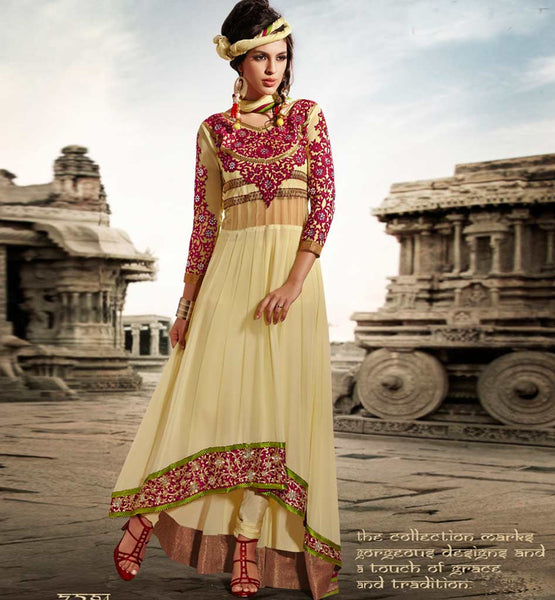 STUNNING SUPER FINE GEORGETTE ANARKALI DRESS ETFS7294