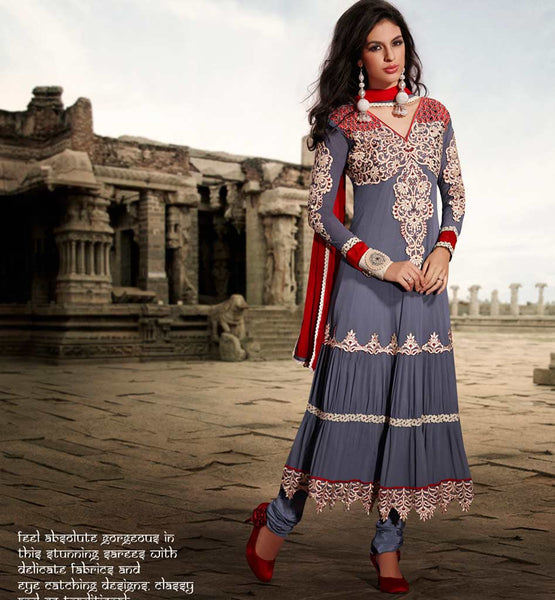 GLAMOROUS SUPER FINE GEORGETTE ANARKALI DRESS ETFS7296