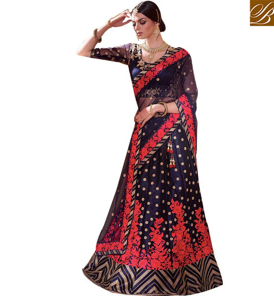 STYLISH BAZAAR ROYAL BRIDAL WEAR LEHENGA SAREE DESIGN RTMRR7303