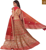 GORGEOUS BRIDAL WEAR LEHENGA CHOLI DESIGN RTMRR7309 BY MAROON COLOR
