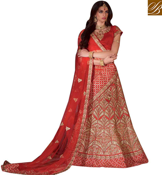 GORGEOUS BRIDAL WEAR LEHENGA CHOLI DESIGN RTMRR7309 BY STYLISH BAZAAR