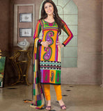 BEAUTIFUL PRINTED PURE COTTON OFFICE WEAR DRESS MATERIAL RTAA7333A