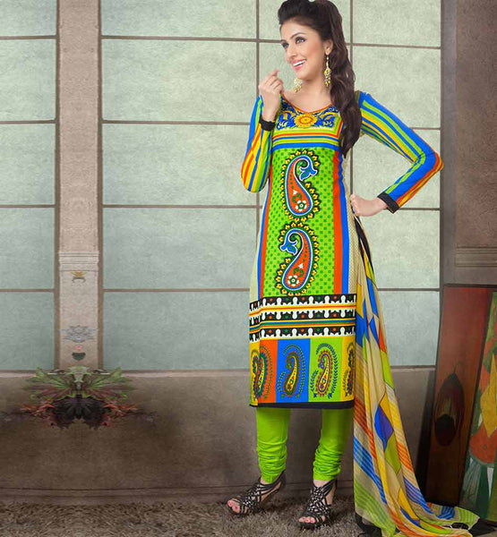 APPEALING PRINTED PURE COTTON OFFICE WEAR DRESS MATERIAL RTAA7333B