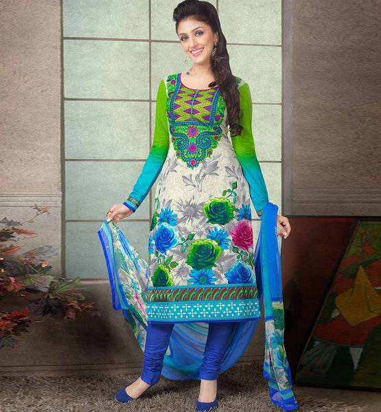 GLAMOROUS PURE COTTON PRINTED OFFICE WEAR DRESS MATERIAL RTAA7335B