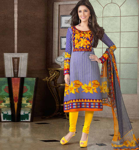 ARRESTING PURE COTTON PRINTED OFFICE WEAR DRESS MATERIAL RTAA7338A