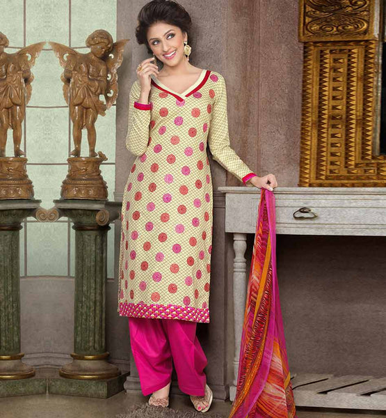 CAPTIVATING PURE COTTON PRINTED OFFICE WEAR DRESS MATERIAL RTAA7342A