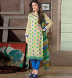 EYE-CATCHING PURE COTTON PRINTED OFFICE WEAR DRESS MATERIAL RTAA7342B