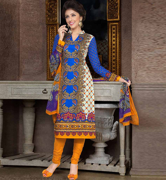 CHARMING PURE COTTON PRINTED OFFICE WEAR DRESS MATERIAL RTAA7343A