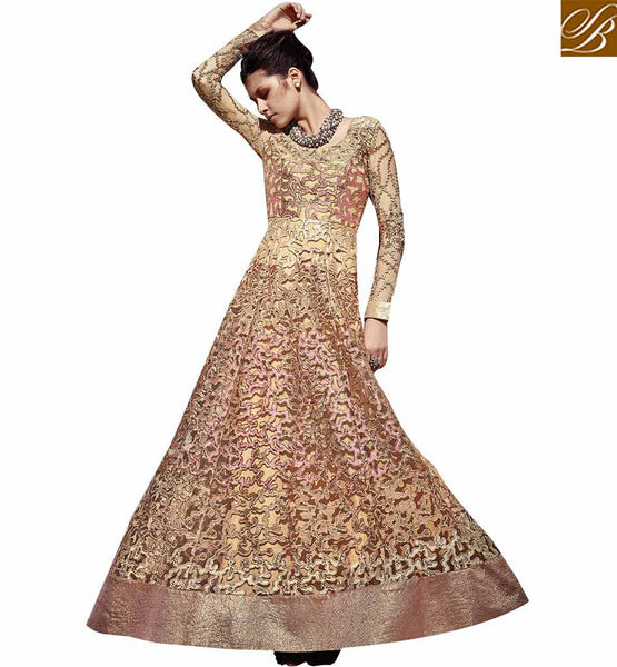 STYLISH BAZAAR AMAZINGLY DESIGNED ANARKALI STYLE SUIT FOR WOMAN FLCE7348