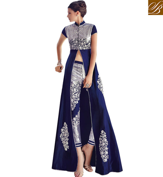 STYLISH BAZAAR PRESENTS EYE CATCHING ANARKALI STYLE LATEST SALWAR KAMEEZ FLCE7351