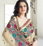 BEAUTIFUL BEIGE COLOR ZAREEN KHAN SAREE VSES7413 - STYLISHBAZAAR - ZAREEN KHAN, BOLLYWOOD SAREES, Ethnicity  Collection, buy sarees online, buy online sarees, indian sarees buy online, buy sarees online india, saree buy online, indian saree buy online