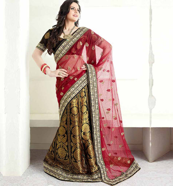 OUTSTANDING ZAREEN KHAN NET LEHENGA STYLE SARI VSES7423 - STYLISHBAZAAR - ZAREEN KHAN, BOLLYWOOD SAREES, Ethnicity  Collection, latest bollywood sarees, bollywood sarees online, Bollywood Designer Sarees, buy bollywood sarees Online, indian sari