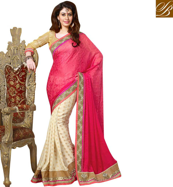 PURCHASE ATTRACTIVE PARTY WEAR SAREE WITH BLOUSE PAY CASH ON DELIVERY