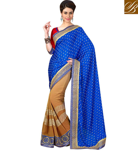 BUY GOOD LOOKING PARTY WEAR GEORGETTE SAREE WITH ART-SILK BLOUSE