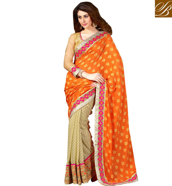 ONLINE SHOPPING INDIA NICE-LOOKING PARTY WEAR SAREE BLOUSE DESIGNS