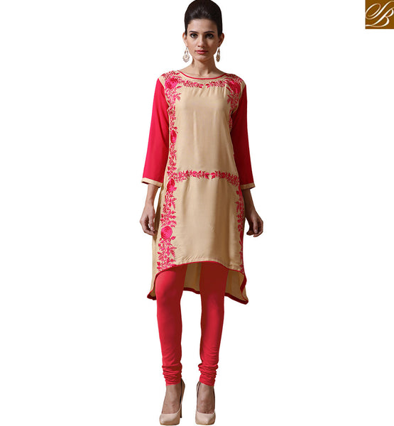 REMARKABLY DESIGNED KURTI FOR GIRLS VNJHI7552 BY BEIGE