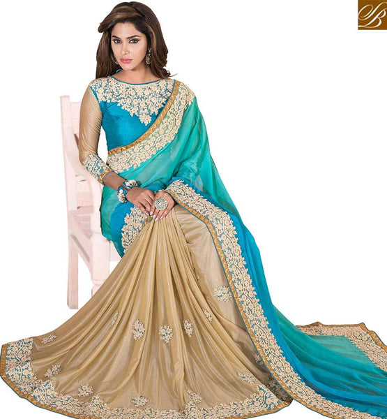 FROM THE HOUSE OF STYLISH BAZAAR ADORABLE DESIGNER EMBROIDERED SAREE DESIGN VDSNZ7553