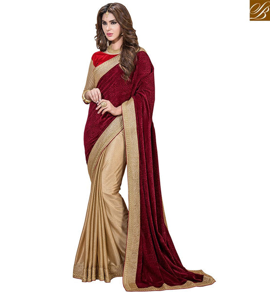 STYLISH BAZAAR BEWITCHING DESIGNER HALF AND HALF SARI VDSNZ7556