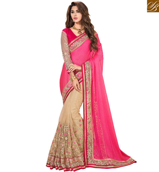 BROUGHT TO YOU BY STYLISH BAZAAR CLASSY DESIGNER PARTY WEAR SAREE DESIGN VDSNZ7559