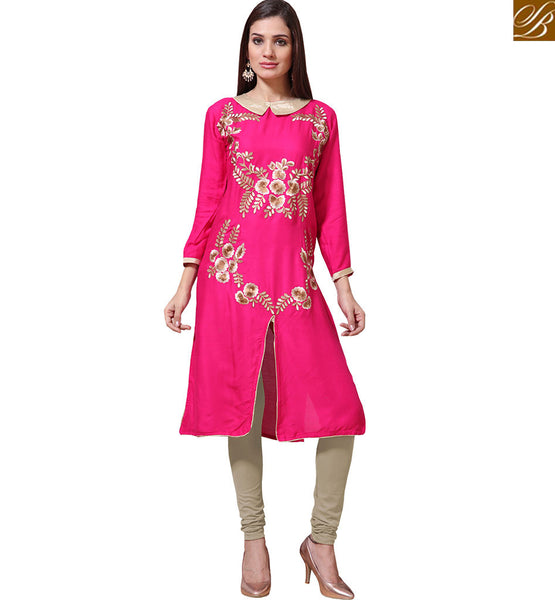 BROUGHT TO YOU BY STYLISH BAZAAR EXQUISITE PINK COLOR FLORAL EMBROIDERED WORK VNJHI7560