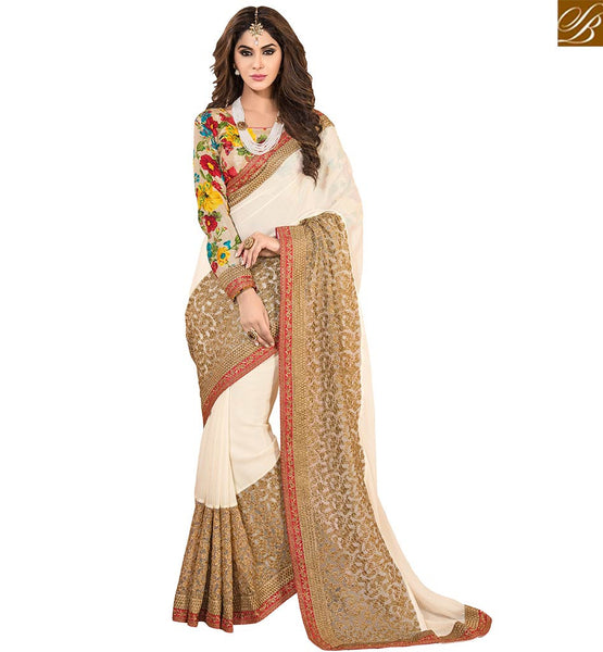 STYLISH BAZAAR PRESENTS DAZZLING EMBROIDERED PARTY WEAR SAREE VDSNZ7561