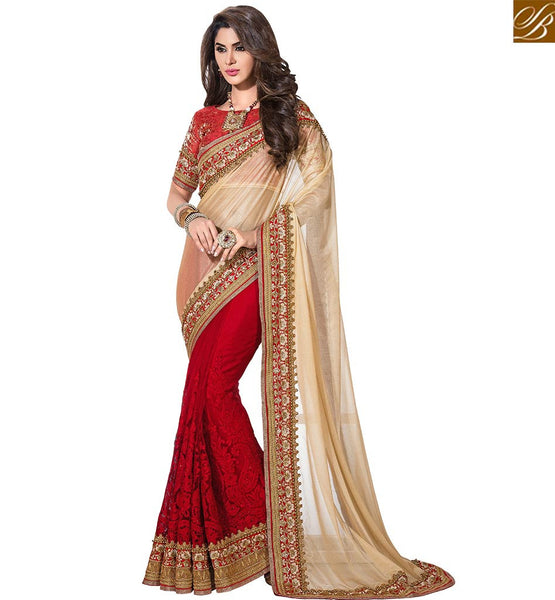 EXQUISITE DESIGNER HALF AND HALF SARI DESIGN VDSNZ7566