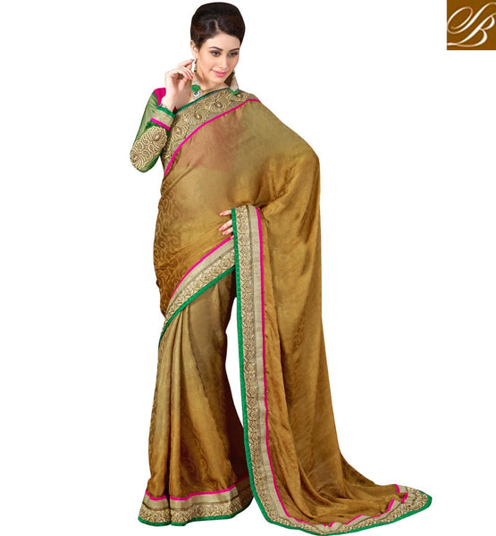 STYLISH BAZAAR DELIGHTFUL PARTY WEAR SAREE WITH ART-SILK BLOUSE PIECE