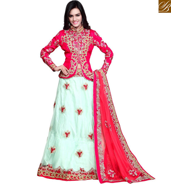 FROM THE HOUSE  OF STYLISH BAZAAR SPARKLING WEDDING SEASON FLORAL EMBROIDERED LEHENGA CHOLI RTCTR77