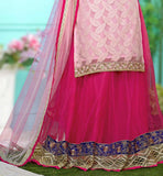 BUY ONLINE LATEST INDIAN LEHENGA WITH LONG CHOLI BY STYLISHBAZAAR