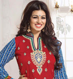 COTTON SALWAR SUIT MATERIAL BOLLYWOOD CELEBRITY AYESHA TAKIA STYLE
