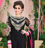GOWN STYLE ANARKALI PLUS KURTI & PURE CHIFFON DIAMOND WORK DUPATTA