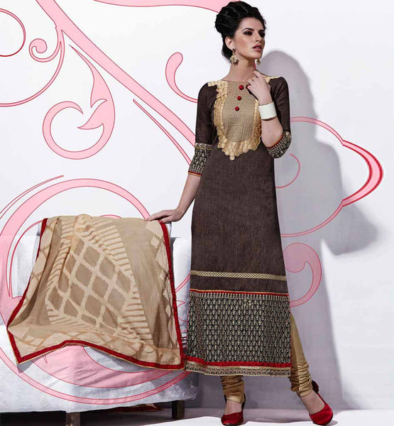 Indian party wear cotton salwar kameez with dupatta shop online