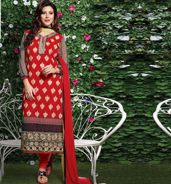 latest Indian designer georgette party wear stragith salwar kameez at best rates