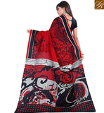 BROUGHT TO YOU BY STYLISH BAZAAR  PRINTED DESIGNER SAREE WITH TIE BACK BLOUSE RTVAN8