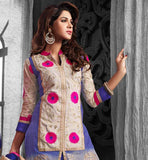 SUMMER WEAR COMFORTABLE CHANDERI COTTON SALWAR KAMEEZ SUIT SET