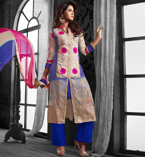 WOMEN APPAREL SHOPPING AT BEST RATE CHANDERI COTTON SALWAR KAMEEZ