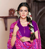 DARK PURPLE KURTI WITH PINK PATIALA AND DUPATTA