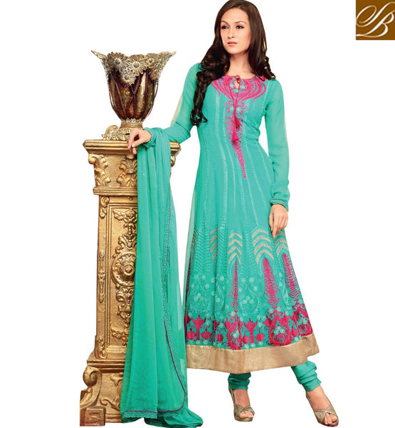 BREATHTAKING BLUE OCCASION WEAR ANARKALI SUIT RTBIN8003B