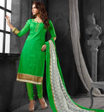 GIRLS DESIGNER COSTUME SALWAR KAMEEZ DUPATTA STRAIGHT LINE DRESS
