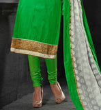 gorgeous green dress for women with embroidred dupatta