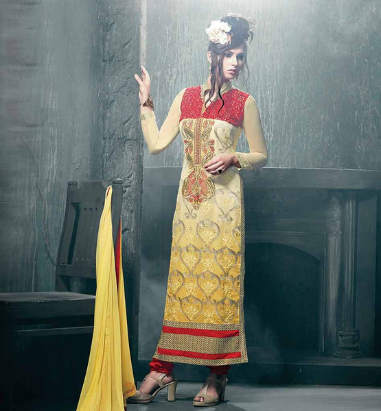 STYLISH WEDDING SUIT SHALWAR KAMEEZ 2015 STRAIGHT CUT PATTERN