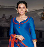 BEAUTIFUL DIVA KARISHMA KAPOOR BLUE TOP WITH ORANGE PATIALA