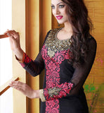 Georgette Designer salwar kameez with chiffon dupatta Online Shopping India Black