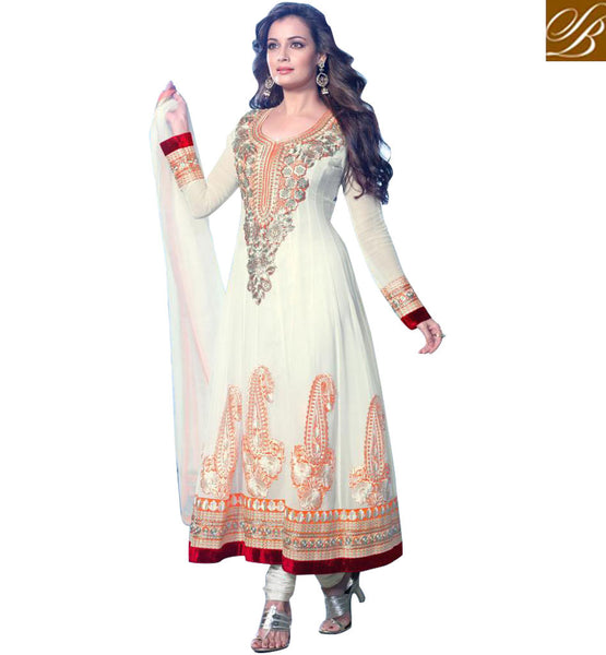 Dia Mirza Designer Anarkali Dress