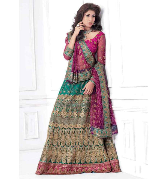 GORGEOUS GREEN & RAIN LEHENGA CHOLI RTXL8005C - STYLISHBAZAAR - Indian wedding Lehenga Choli, Wedding Lehenga Choli Online, Lehenga Choli for Wedding, online wedding Lehenga Choli, online shopping for wedding Lehenga Choli, indian wedding clothing, embroidered wedding Lehenga Choli
