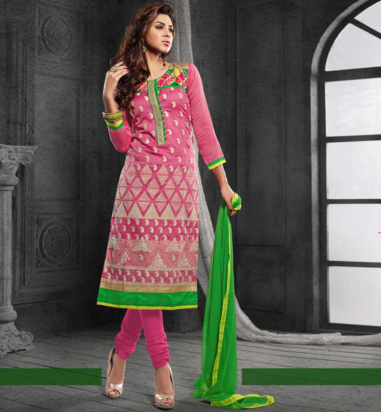 LADIES ATTIRE SHOPPING INDIA CHANDERI COTTON SALWAR KAMEEZ DESIGNS