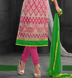 super-cool pink chanderi cotton Karachi style salwar kameez
