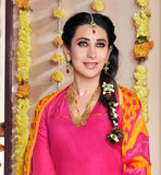 KARISHMA KAPOOR PINK DRESS WITH PRINTED PATIALA AND DUPATTA