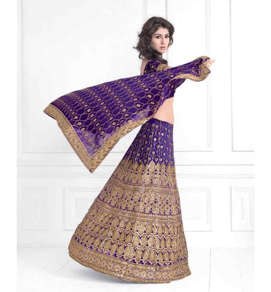 BEWITCHING BLUE BRIDAL LEHENGA CHOLI RTXL8006A - STYLISHBAZAAR - Indian wedding Lehenga Choli, Wedding Lehenga Choli Online, Lehenga Choli for Wedding, online wedding Lehenga Choli, online shopping for wedding Lehenga Choli, indian wedding clothing, embroidered wedding Lehenga Choli