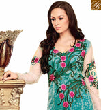 CHARMING GREEN OCCASION WEAR ANARKALI SUIT RTBIN8006B